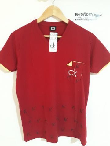 4b9ee878cf Kit 6 camisa gola V Por 99.90 - Roupas e calçados - São José ...