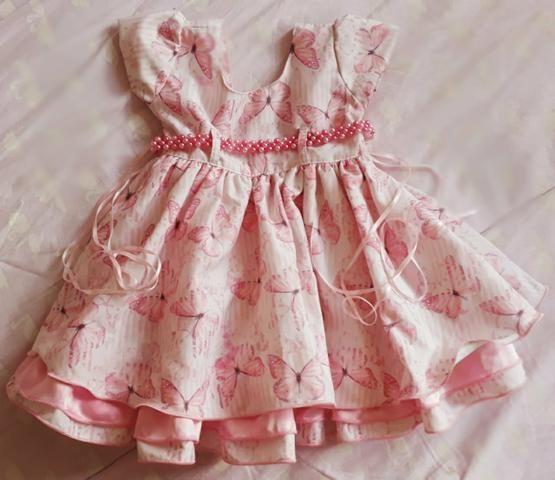 Vestido princesinha de Borboletinha para sua bebê - Roupas e ... b323c54a8960