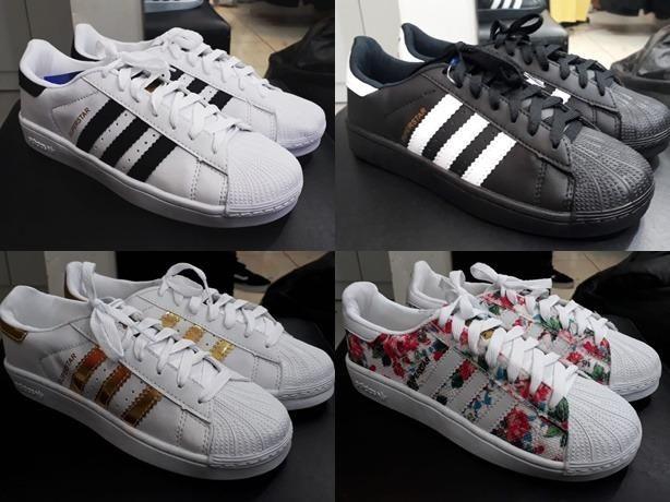 brand new 27ccc 8e27f Tenis Adidas Superstar original unissex 34 ao 43 Pronta entrega no DF 3x  sem juros cartão