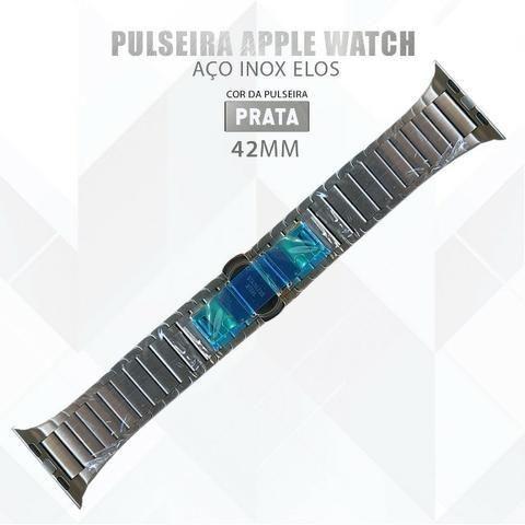 Pulseira Para Relógio Apple Watch De Elos 42mm Aço Inox