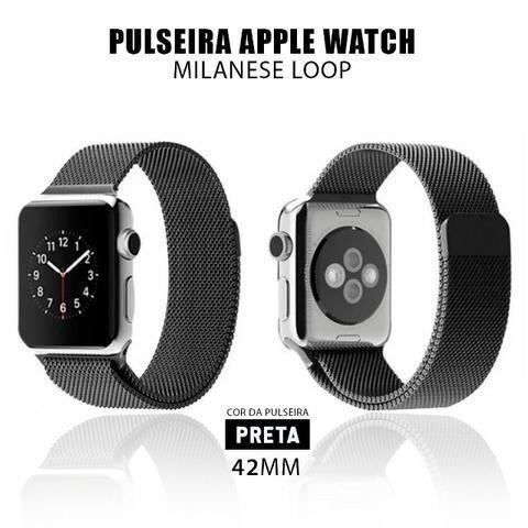 Pulseira Estilo Milanês P/ Apple Watch 42mm + Película 5D - Foto 5