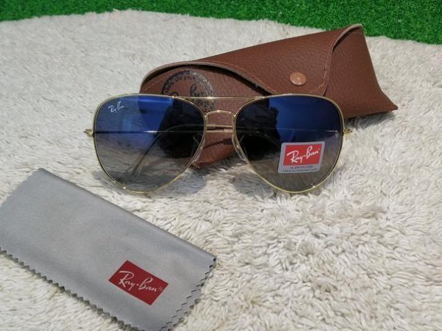 2a0c0316c Óculos Ray Ban Aviador Azul Degrade Tam. G - Bijouterias, relógios e ...