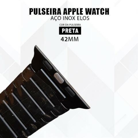 Pulseira Para Relógio Apple Watch De Elos 42mm Aço Inox - Foto 3