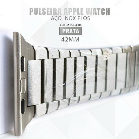 Pulseira Para Relógio Apple Watch De Elos 42mm Aço Inox - Foto 4