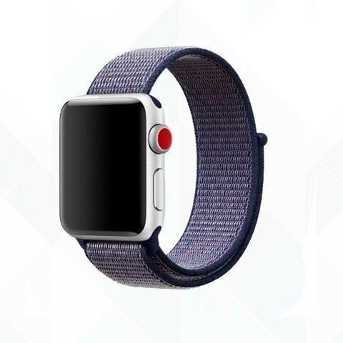 Pulseira Esporte Nylon Apple Watch 38/42mm + Pelicula 5d - Foto 4