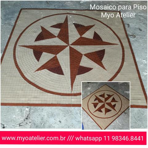 Carpete mosaico, piso mosaico, rosa dos ventos, arvore da felicidade - Foto 2