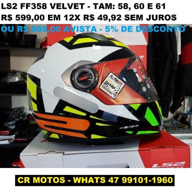 Capacetes LS2 FF358 novos, varios modelos e tamanhos - Foto 4