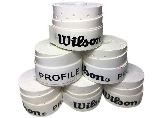 Overgrip Wilson Profile Perfurado - 5 Unidades - Branco - Foto 3