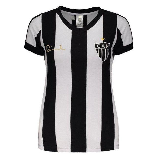 Camisa Oficial Atlético Mineiro Reinaldo Babylook Feminino (Tam. P-M-G) em Uberaba, MG - Foto 5