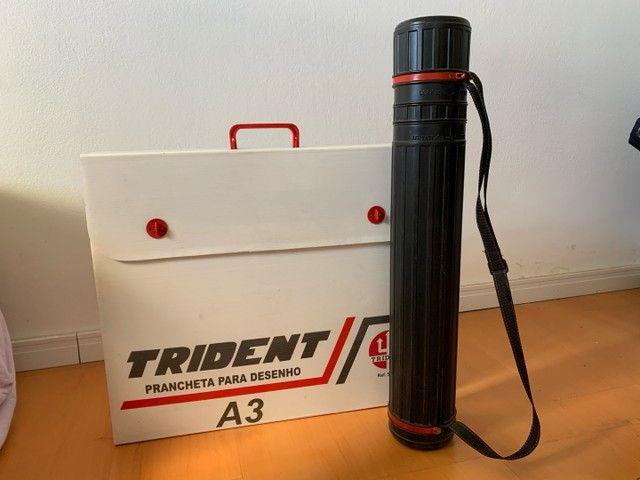 Prancheta para Desenho A3 Trident + Tubo Telescópio  - Foto 5