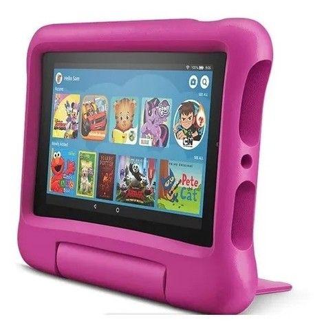Tablet Infantil Amazon Fire 7 Kids - 16GB - Rosa ou Azul - Foto 2