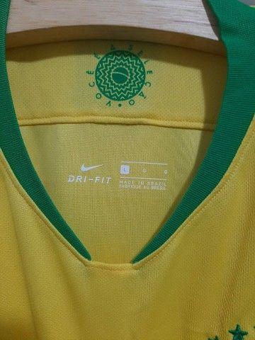 Camisa seleção brasileira autografada. - Foto 2