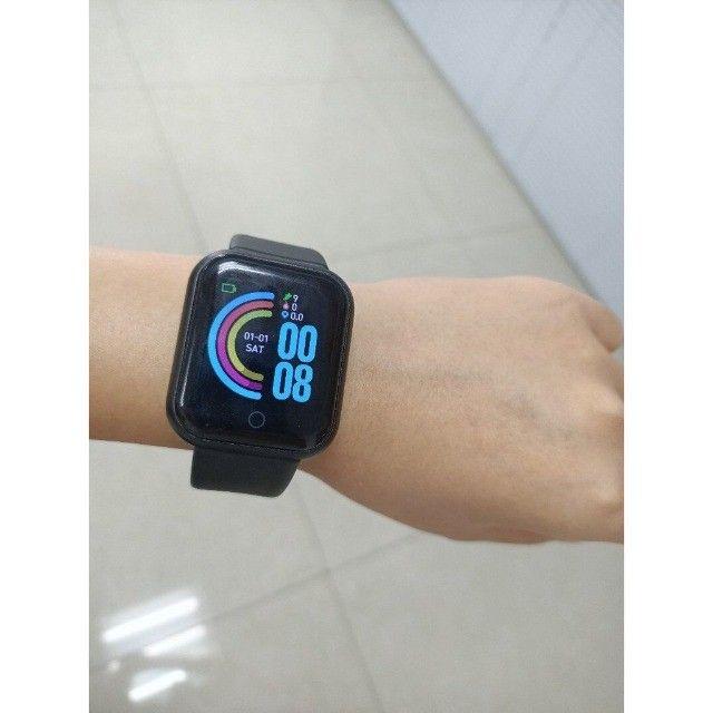 SmartWatch/ Prova d'Água, Batimentos Cardíacos e Pressão, Esportes, Notificação Bluetooth - Foto 5