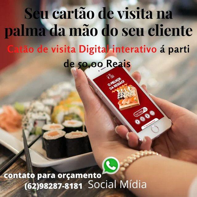 Seviço de social mídia, cartão de visitas digital, aparti de 50 reais - Foto 5