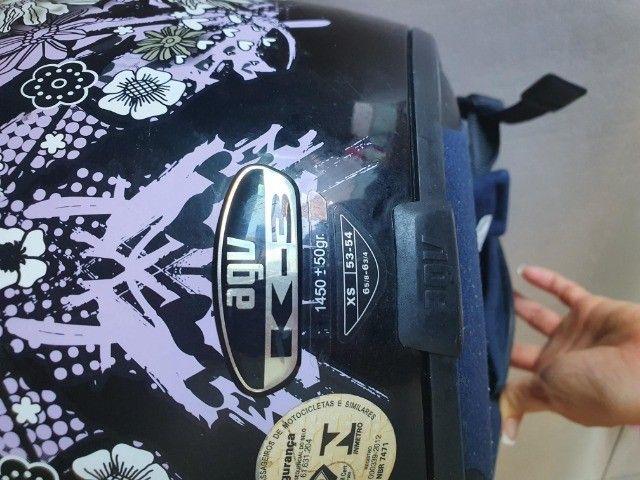 capacete agv feminino tamanho 54 - Foto 4