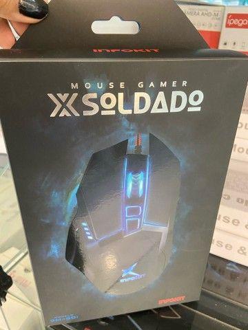 MOUSE GAMER X SOLDADO DE LED