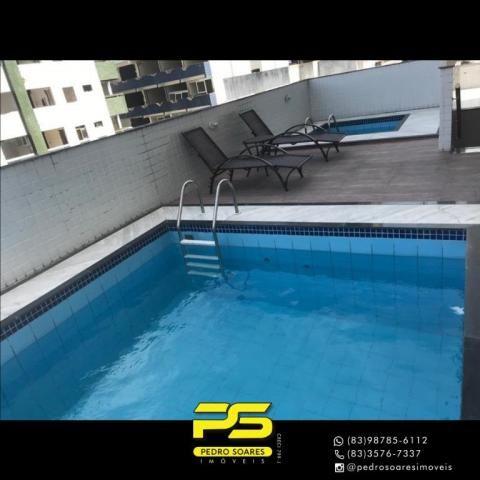 Apartamento com 2 dormitórios para alugar, 56 m² por R$ 1.700/mês - Tambaú - João Pessoa/P - Foto 3
