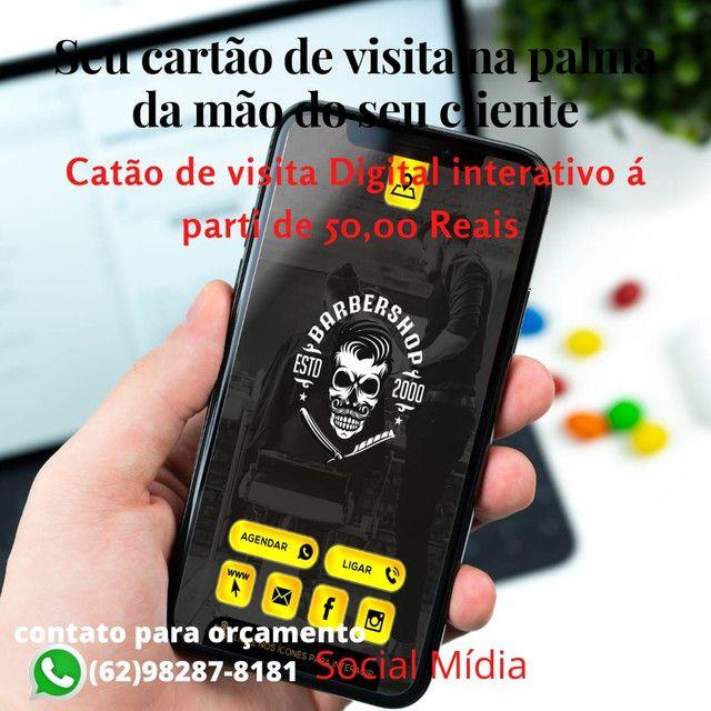 Seviço de social mídia, cartão de visitas digital, aparti de 50 reais - Foto 4