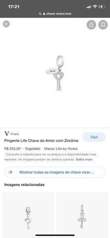 Chave Vivara love linda toda cravejado pedras((200$)) - Foto 4