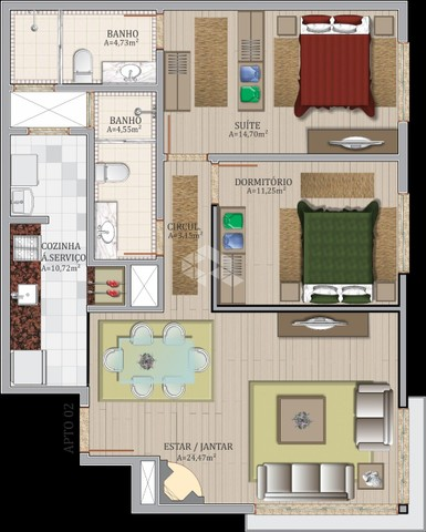 Apartamento à venda com 2 dormitórios em Centro, Gramado cod:9903333 - Foto 2