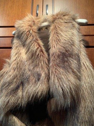 colete feminino em pele sintética, comprada zara spain. tamanho medio. pouco uso - Foto 5