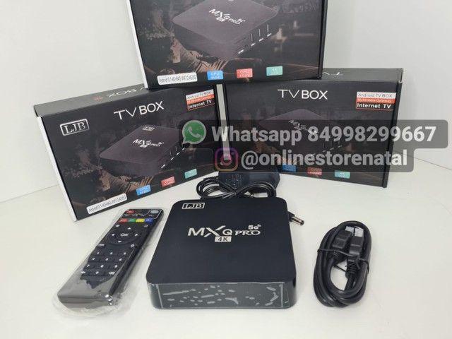 Tv box Mxq pro 4k 64gb de memoria ott 5G de velocidade