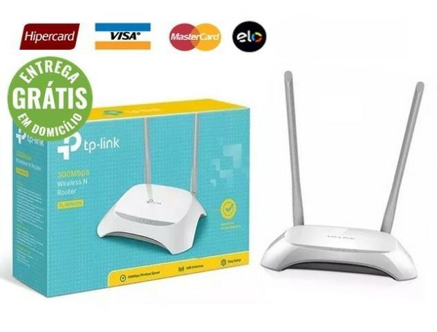 Roteador 2 Antenas Potente Tp-link 300mbps - Novo - Entrega grátis