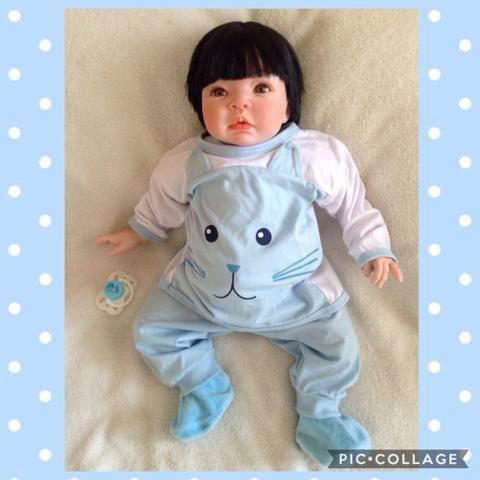 Boneca bebê realista reborn nacional menino corpo articulado lindo!