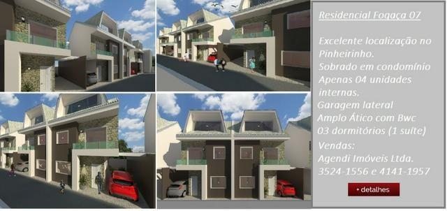 Excelentes Sobrados Tríplex em Condomínio - Pinheirinho - Apenas 4 unidades internas - Foto 2