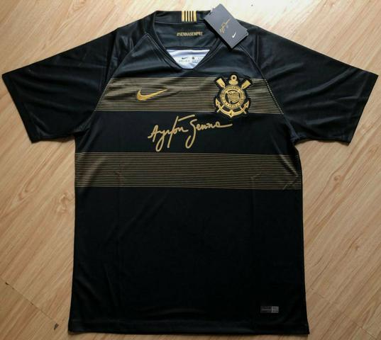 Camisa Oficial - Corinthians Airton Senna - Roupas e calçados ... 283e210516834
