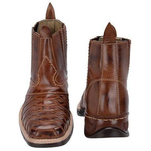 Bota Botina Masculina Couro Nobre Cowboy Country Exclusiva Do Tamanho 38 Ao  43 39398bd60b7