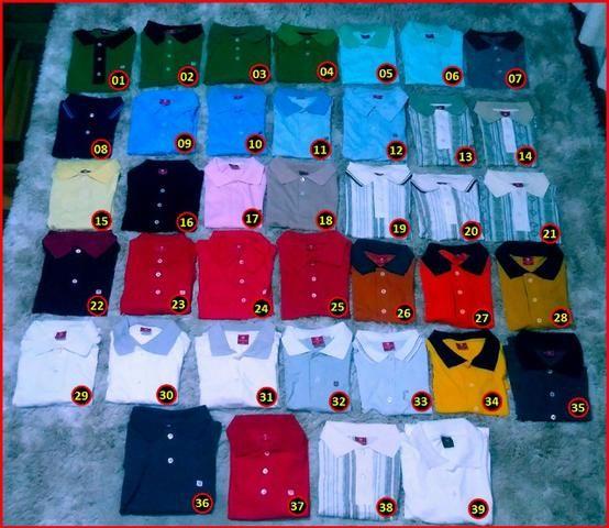 a1cc375805 Lote de Roupas - Camisa Polo Masculina Adulto - 481 peças - R  8.00 a peça