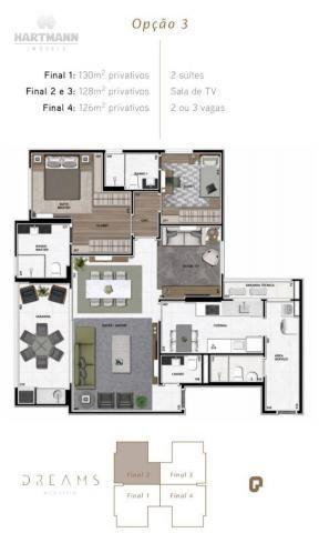 Apartamento Garden com 3 dormitórios à venda por R$ 1.099.998,96 - Ecoville - Curitiba/PR - Foto 4