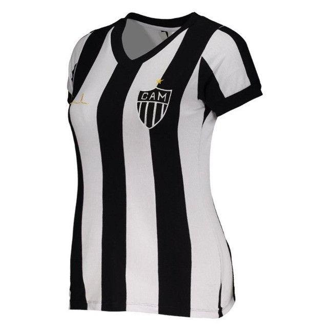 Camisa Oficial Atlético Mineiro Reinaldo Babylook Feminino (Tam. P-M-G) em Uberaba, MG - Foto 3