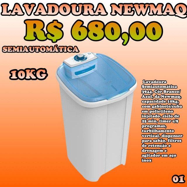Lavadora Semiautomática Newmaq 10 kg