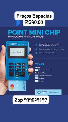 MAQUININHA DE CARTÃO POINT MINI CHIP - Foto 3
