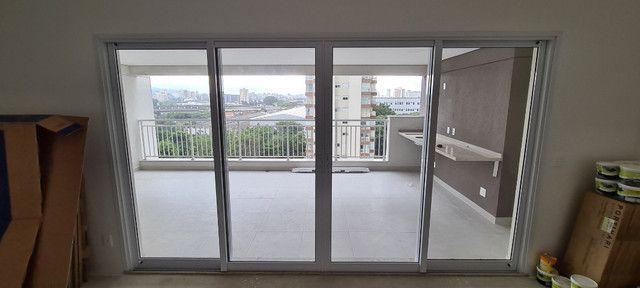 Esquadria em aluminio Branca/ porta varanda - Unidese - NOVA - Foto 2
