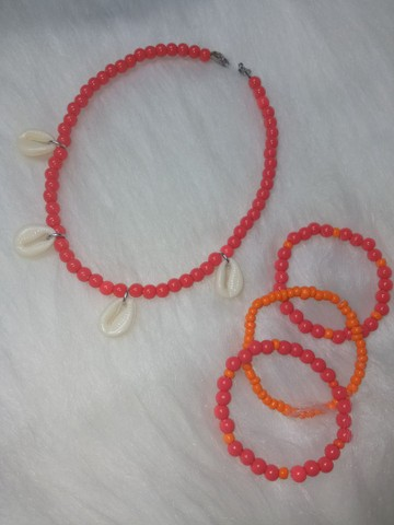 Kit infantil colar mais pulseiras moana - Foto 2
