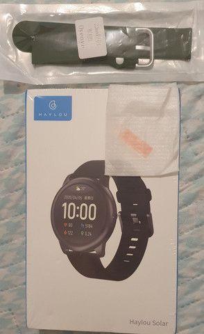 Smartwatch Haylou Solar + Pulseira e Película