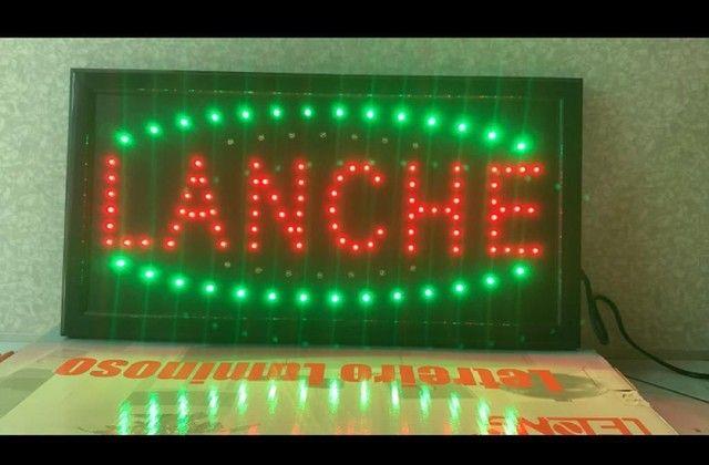 Painel luminoso de Led Lanche - Foto 2