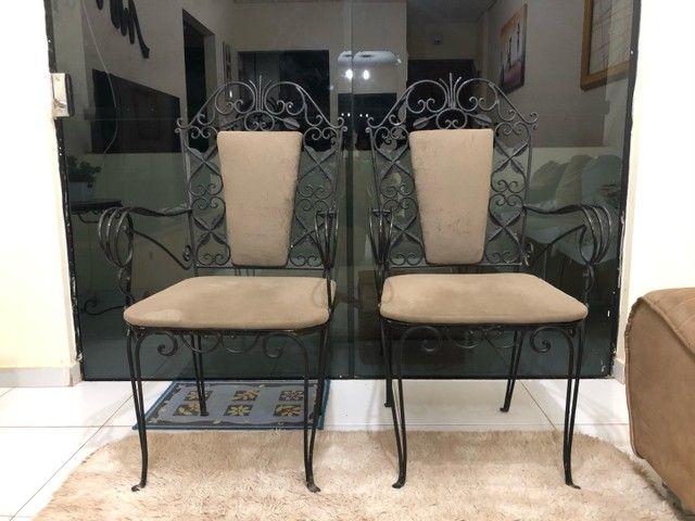 Cadeiras de ferro rústica relíquia