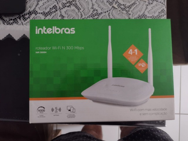 Roteador intelbras wi-fi N 300mbps