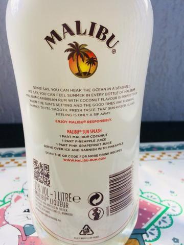 Licor importado Malibu original lacrado só 70,00 - Foto 2
