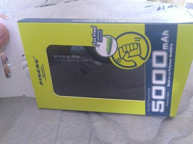Vendo carregador portátil ultra slim (novo) + cabo P2 p2