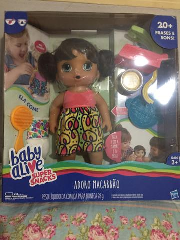 Baby alive macarrão
