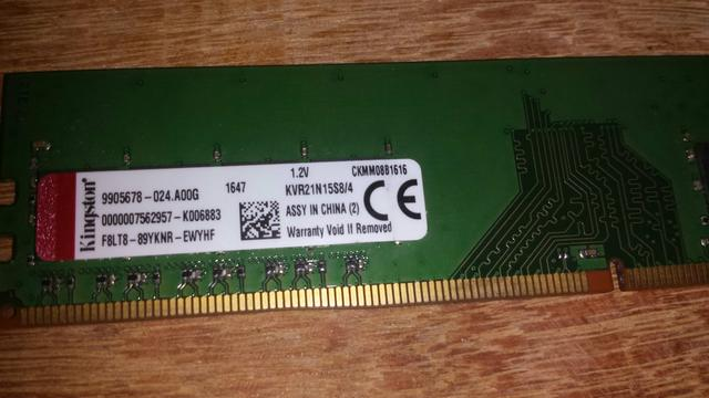 Memoria ddr4 pc kingston 4gb