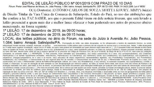 Imóvel rural, de frente p/ o Oceano Atlântico, com 28,4 hectares em Salinópolis-PA