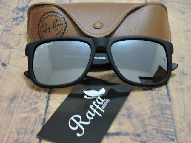 Óculos de Sol Ray Justin Rb4165 espelhado - Bijouterias, relógios e ... d46f9ffb13