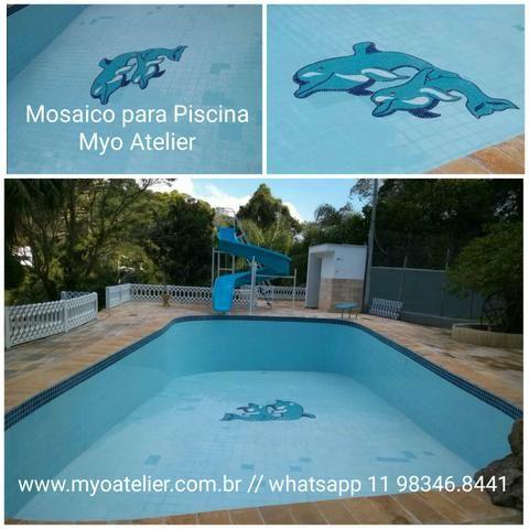 Golfinho para Piscina, fundo de piscina, piscina, polvo, raia, mosaico, desenho piscina