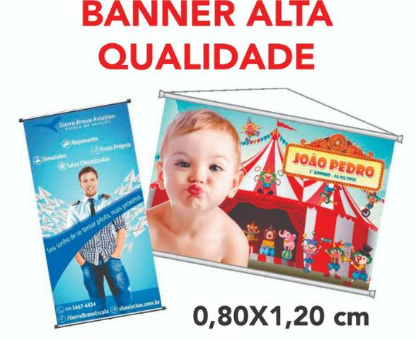 Banner em Lona 0,80x1,20 Personalizado, Alta Qualidade